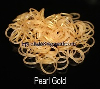 MIN ORDER AMOUNT $10.0   New loom bands pearl metallic color rubber bands (600PCS rubber band +24 PCS S + 1 hooks )