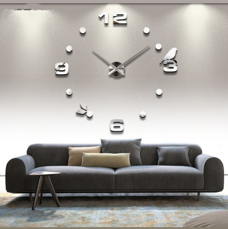 2015 Hot 3d Diy Wall Clock Home Decor Living Room Quartz Needle Digital Uniqu