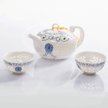 Hot Sale!  Tea Sets,Clear Handpainted Tea Service,ChineseTravel Tea Set,High Quality