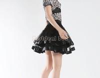 Women Black Tutu Mini Skirt Sexy tulle Ballet Belly Dance clubwear Saia Faldas Summer Girl Casual Grunge Skirts B22 CB031586
