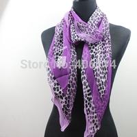 New Fashion Women's Georgette Leopard Long Wrap Shawl Beach Silk Scarf 170x34cm 20styles