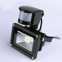 LED Flood Light PIR Motion sensor Induction Sense 10W 20W 30W 50W 70W 85-265V detective Sensor lamp LED projector front lamp