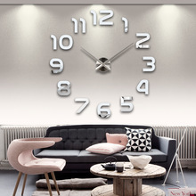 Modern Arabic big size DIY wall clock,large size decorative wall stickers clock,brief,simple,elegant beautiful home decoration