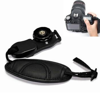 Professional Black PU Leather Soft Camera Wrist Strap High Quality Hand Grip Strap Belt for Canon Nikon Sony Olympus SLR / DSLR(China (Mainland))