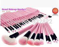 Wholesale Price! 32pcs Pink Cosmetic Facial Make up Brushes Kit Makeup Brush Tools Set