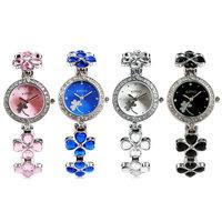 New2014 Fashion Relogio Feminino Quartz Watches Brand Kimio Stainless Steel Strap Leaf Clover Women Luxury Wristwatches In Stock