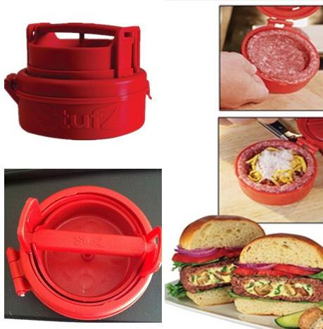 2015 latest Stufz Stuffed Hamburger Press Burger Press cooking tools meat Hamburger Machine Kitchen Meat Poultry Tools No Box(China (Mainland))
