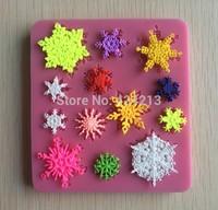 Beautiful snowflakes Famous Fasion Silicone Mould Cake Decorating Fondant Sugarcraft Mold -P031
