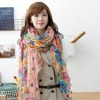 Buy 3 get 1 for free!  Chiffon Scarf Women High Quality Gradual colors chiffon georgette silk scarves shawl female long design