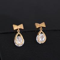 wholesale fashion jewelry Colorful Crystal Butterfly Earrings Women Earrings