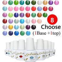 Choose 8 pieces + Top+ base New 200 colors Selina UV Gel Polish 15ml 0.5oz Nail Gel Free Ship