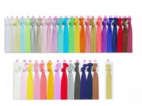 (50 pieces/lot) Knotted Hair Ties Printing & Solid Colors Assorted