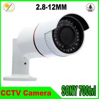 Hot sale Sony Effio-e CCD 700TVL 960H 36pcs IR leds 2.8-12 mm varifacal  lens Day/night waterproof CCTV Bullet Camera