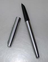 Горячая распродажа классический авторучка посеребренная матовый хром стали тонкий наконечник авторучки обучение офисная техника HG241