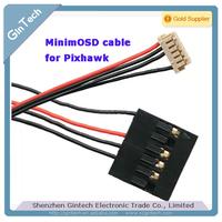free shipping 2pcs/lot  Osd cable  mini osd cable for pixhawk  6pin to 4pin