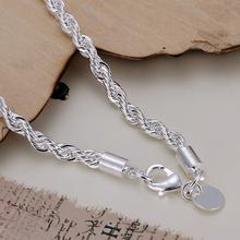 Wholesale fashion bracelet for women Silver plated twisted charm bracelets bangles chapado en plata pulseras mujer