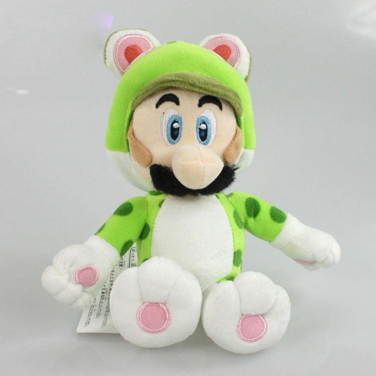 5 шт./лот New Super Mario 3D world 7 18 см Super Mario Bros Зеленый Cat Луиджи Плюшевые Игрушки Куклы с Тегом Бесплатная Доставка