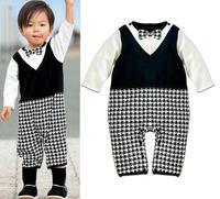 newborn carters roupas de bebe baby boys cotton jumpsuit  kid romper boy clothes 2015 new superman plaid ropa twin baby clothing