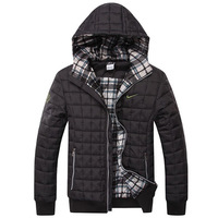 2014 New mens winter jacket men's hooded wadded coat winter thickening outerwear male slim casual cotton-padded outwear