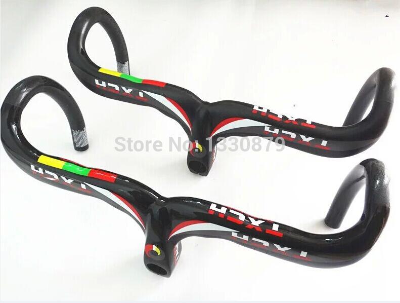 top carbon fiber bicycle handlebar road bike carbon handlebar matte 400 420 440MM bike one bending