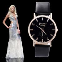 Hot Geneva fashion casual watch hour clock women Dress watches Top quality luxury leather quartz watch relogio feminino relojes