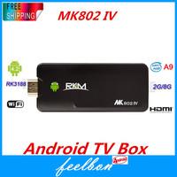 RKM MK802 IV Android 4.2 Jelly Bean Quad Core Mini TV Dongle, RK3188 Cortex A9 CPU, 2GB RAM 8GB ROM, bluetooth
