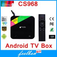 Android 4.2 Smart Tv Box CS968 Quad Core ARM Cortex-a9 1.6ghz Rk3188 Bluetooth 4.0 HDMI HDD Player