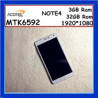 Real Best Note4 Phone MTK6592 Octa core 1920*1080 3GB Ram 32GB Rom 2.3Ghz 16MP Original FHD N9100 Smart Phone Mobile Phone