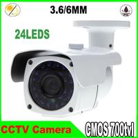 "mini 1/3"" cmos 700 tvl Video Infrared  24 leds indoor/outdoor Waterproof Surveillance CCTV Camera"