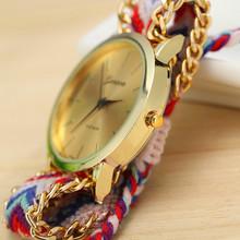 13 Colors New Brand Handmade Braided Friendship Bracelet Watch GENEVA Hand Woven Watch Ladies Quarzt Watches