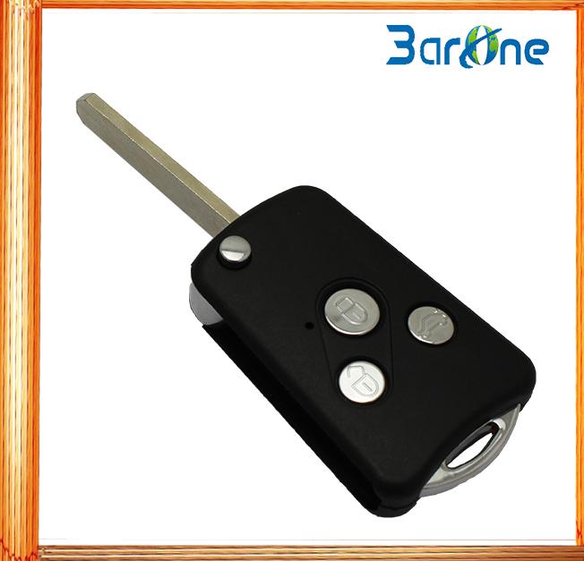 three button Remote Car Key Shell Auto fob Flip Key switch blade key case for Honda(China (Mainland))
