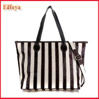 New 2015 Women's Handbag Genuine Leather Shoulder bag Striped tote cowhide Fashion bag