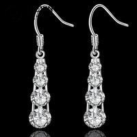 E574 2014 New supplies earrings fashion high quality Clear Crystal Earrings fashion high quality Ohrring/boucle/brinco/pendiente