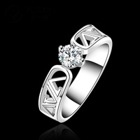 R605-8 925 Silver Stamp new design fashion finger ring for lady Woman Letter Ring Free Shipping anneau / anel / anneau / anillo