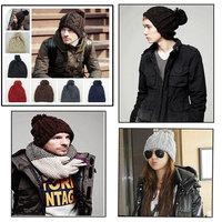 New Fashion Unisex Wool Knitted Beanies Caps Men/Women Autumn/Winter Warm Knitted Beanies Cap Hat Headwear