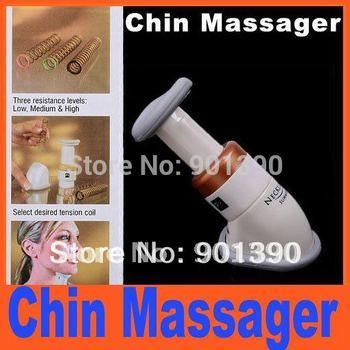 Portable Neckline Slimmer Neck Exerciser Chin Health care beauty Massage Body Massager Free Shipping