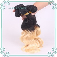Free Shipping New 6A Remy Hair Products 1b/613 Two Tone Brazilian Virgin Hair Body Wave Weave Ombre Hair Extensions Hair Weft