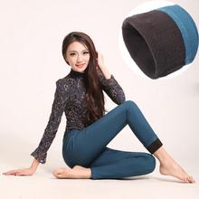 6 colores M- 5XL invierno gruesa Toisón de cintura alta elasticidad Cálido Casual medias del tamaño extra grande Pantalones Mujeres(China (Mainland))