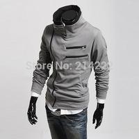 Wholesale trade hoodies Spring  supply of new multi- zipper design cardigan  coat male