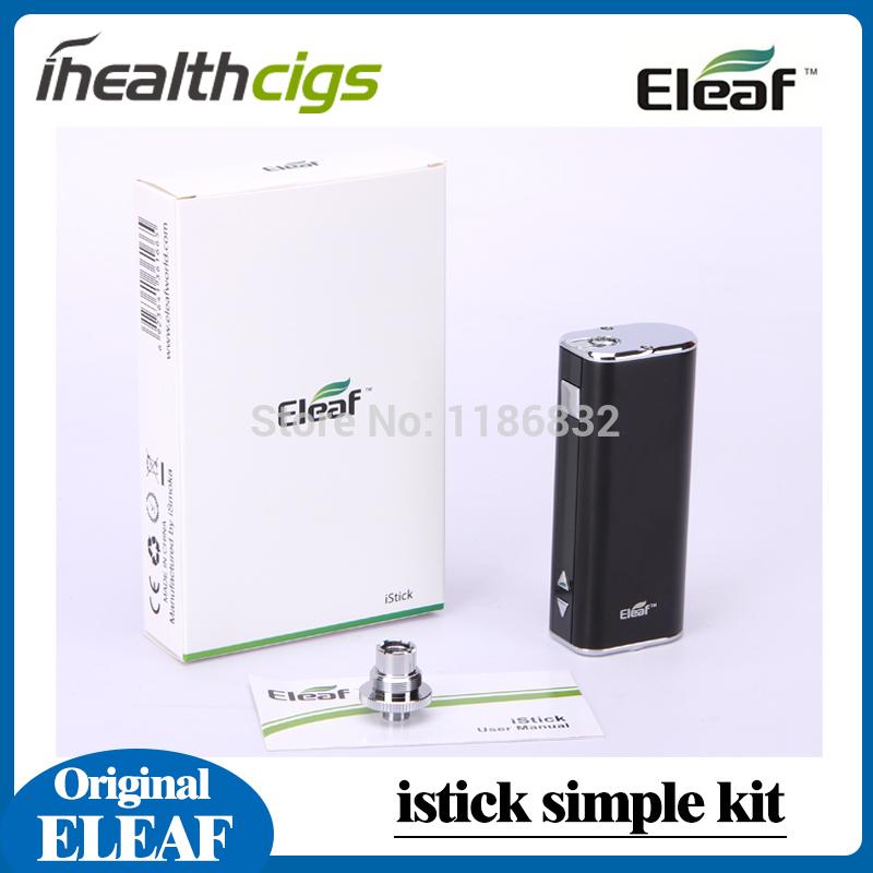Original Eleaf iStick mechanical simple kit 20W Mod 2200mAh OLED Screen VV/VW Electronic Cigarette ihealthcigs(China (Mainland))