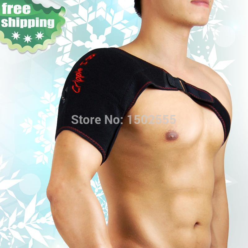 Adjustable heat moxa herbal therapy single shoulder braces massager support posture corrector corset shoulder support belt band(China (Mainland))