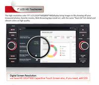 Pure Andorid 4.4.2 System Car Autoradio Stereo GPS Navi For Ford Focus / Fiesta / Fusion / Galaxy / C-MAX/ S-MAX / Kuga /Transit
