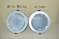 Ultra-thin 3-4.5cm DownlightS Dimmable LED 3W 5W 7W 9w 12w 15W anti-fog high Lumen energy saving lamps silver/milky white body