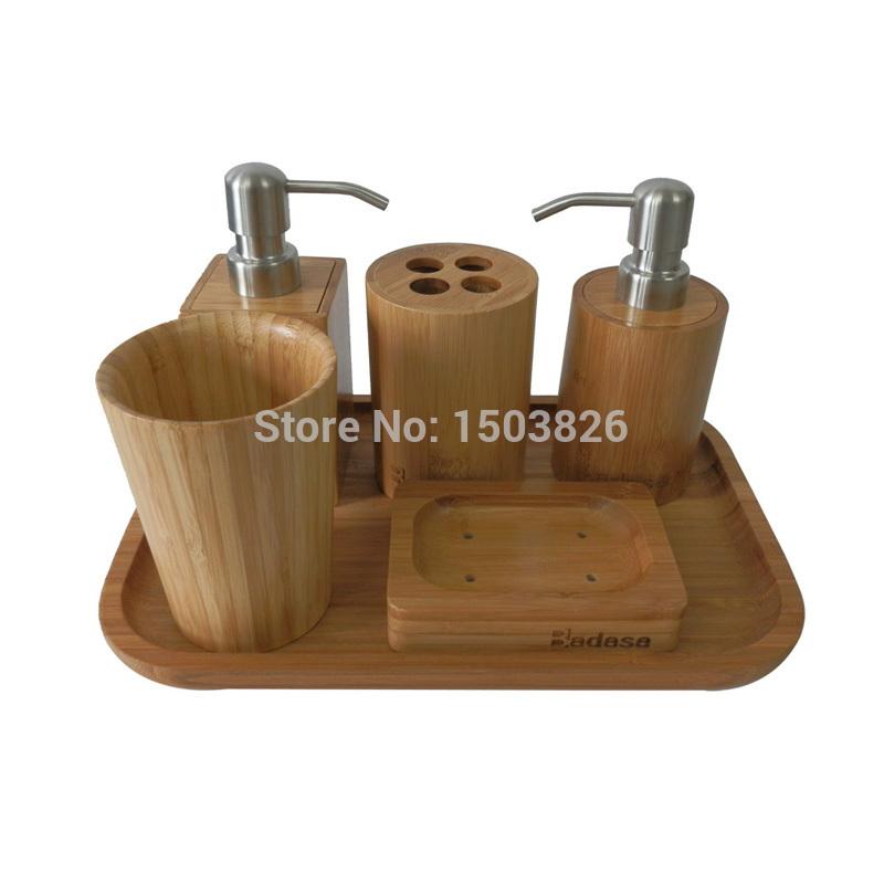 20170311&110601_Badkamer Accessoires Set ~ accessoires set rot ~ Badasa set eco vriendelijke bamboe badkamer set