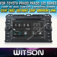WITSON  for TOYOTA PRADO PRADO 120 Series Car DVD GPS Navigation +OBD / Mirror Link support+ DSP Audio + 1080P HD Video Display