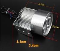 Super bright 12W 12V-80V 800-880LM IP65 Motorcycle LED Headlamp/Motorcycle electric car LED Headlight waterproof IP67 free fedex