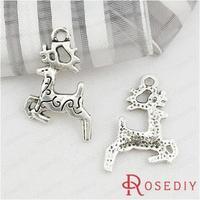 Wholesale 20*14mm Antique Silver Deer Alloy Charms Pendants Diy Jewelry Findings Accessories 50 pieces(JM6598)