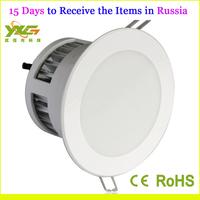 Russia Domestic delivery AC110V 220V 3W  Reccessed led down light 2pcs/lot warm white & cool white wholesale