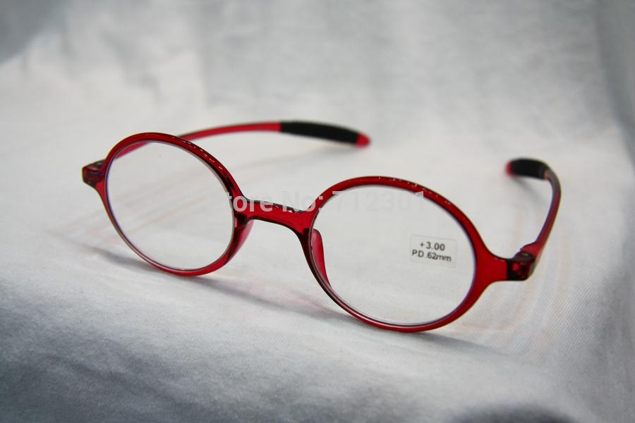 Flexible TR90 Retro Reading Glasses, Totally Round Frame Unbreakable Pocket Reader, Geek NERD Hyperopia Eyeglasses Ultra Light(China (Mainland))