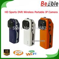 720P HD Sports DV 1.3Mp Portable Camera Support P2P to Realize Remote Surveillance around the world Mini IP Camera Wireless WIFI